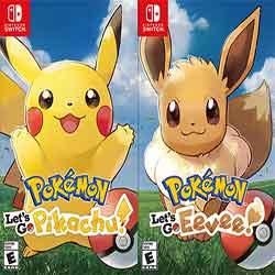 Pokemon Lets Go PikachuEevee